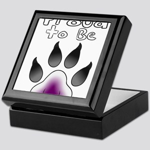 Proud To Be Asexual Furry Keepsake Box
