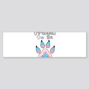 Proud To Be Transgender Furry Bumper Sticker