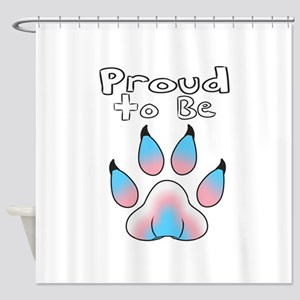 Proud To Be Transgender Furry Shower Curtain