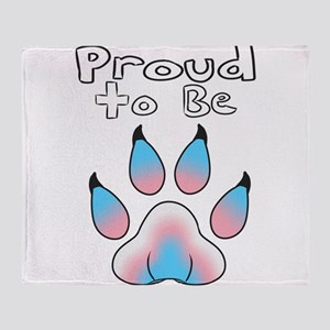 Proud To Be Transgender Furry Throw Blanket