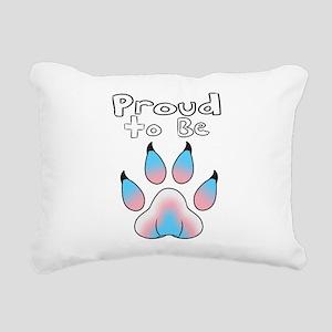 Proud To Be Transgender Rectangular Canvas Pillow