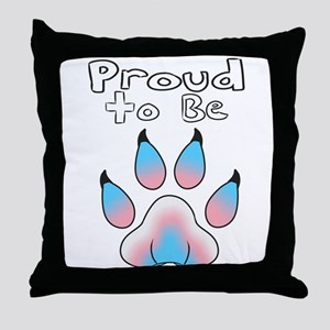 Proud To Be Transgender Furry Throw Pillow