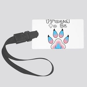 Proud To Be Transgender Furry Large Luggage Tag