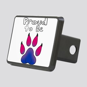 Proud To Be Bisexual Furry Rectangular Hitch Cover
