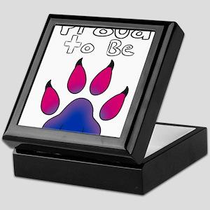 Proud To Be Bisexual Furry Keepsake Box