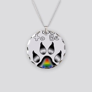 Proud To Be LGBT Ally Furry Necklace Circle Charm