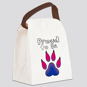 Proud To Be Bisexual Furry Canvas Lunch Bag