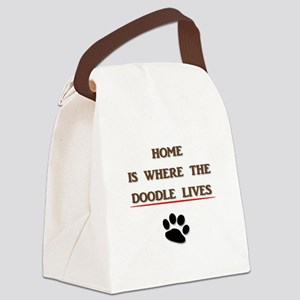 Home is Where the Doodle Lives Canvas Lunch Bag