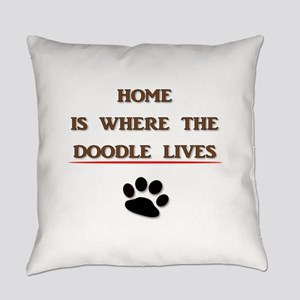 Home is Where the Doodle Lives Everyday Pillow