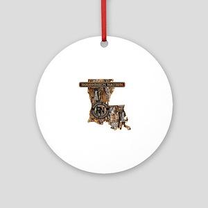 LOUISIANA RIG UP CAMO Round Ornament