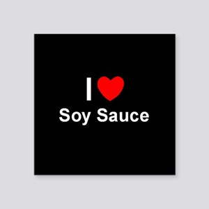 "Soy Sauce Square Sticker 3"" x 3"""