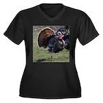 Big Gobbler Women's Plus Size V-Neck Dark T-Shirt