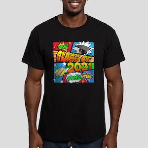 Class of 2021 Comic Bo Men's Fitted T-Shirt (dark)