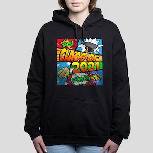Class of 2021 Comic Book Women's Hooded Sweatshirt
