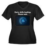 Darts Skills Women's Plus Size V-Neck Dark T-Shirt