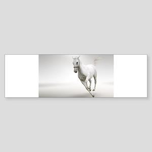 Beautiful white horse stallion Bumper Sticker