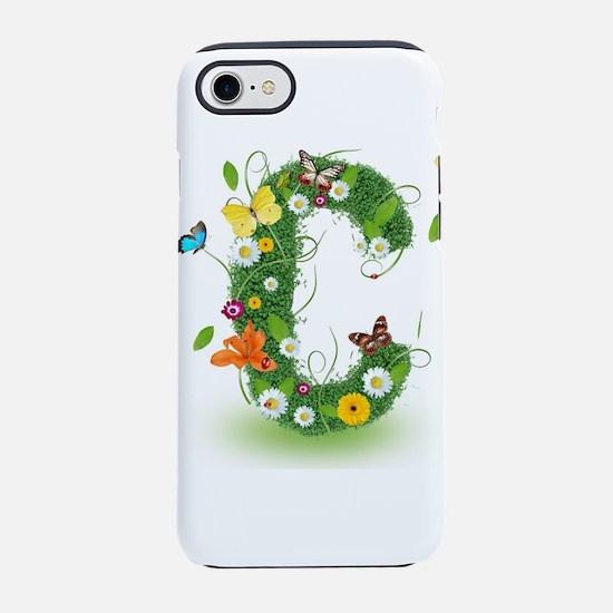 Monogram Letter C iPhone 8/7 Tough Case