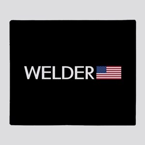 Welder: American Flag Throw Blanket