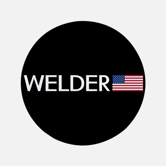 "Welder: American Flag 3.5"" Button (100 pack)"