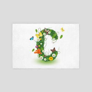 Monogram Letter C 4' x 6' Rug