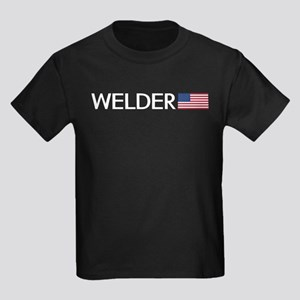 Welder: American Flag Kids Dark T-Shirt