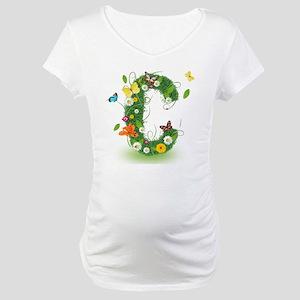 Monogram Letter C Maternity T-Shirt