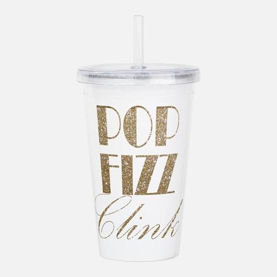 champagne pop fizz cli Acrylic Double-wall Tumbler