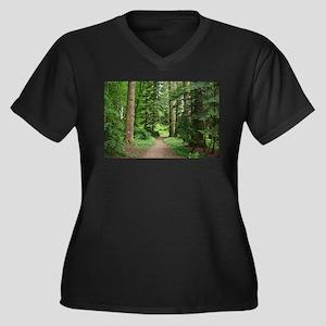 Forest walk, Scotland Plus Size T-Shirt