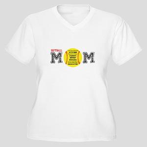 Softball MOM Plus Size T-Shirt