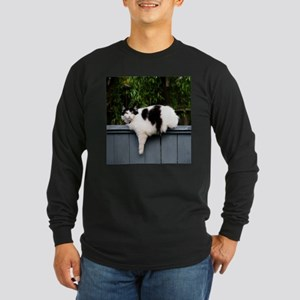 Big Fat Cat On Fence Long Sleeve T-Shirt
