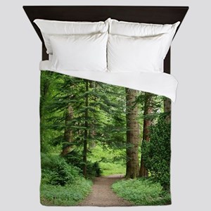Forest walk, Scotland Queen Duvet
