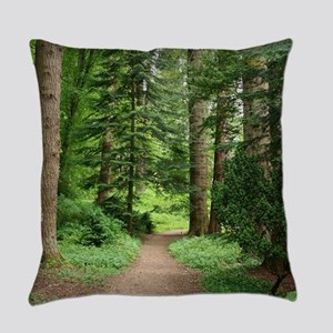 Forest walk, Scotland Everyday Pillow