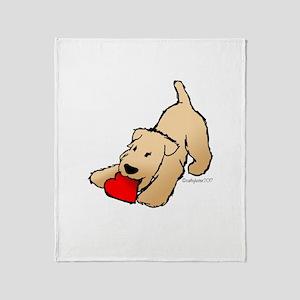 Wheaten Terrier Valentine Throw Blanket
