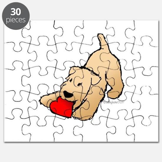 Wheaten Terrier Valentine Puzzle