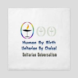 UU Unitarian By Choice Queen Duvet