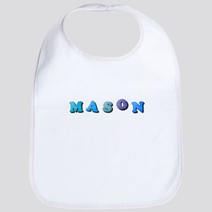 Mason (Colored Letters) Baby Bib