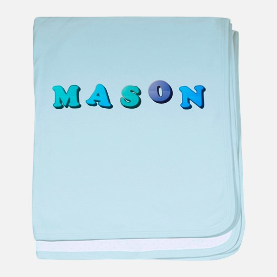 Mason (Colored Letters) baby blanket