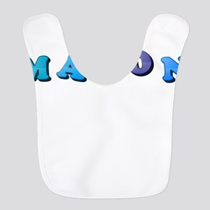 Mason (Colored Letters) Polyester Baby Bib