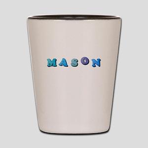 Mason (Colored Letters) Shot Glass