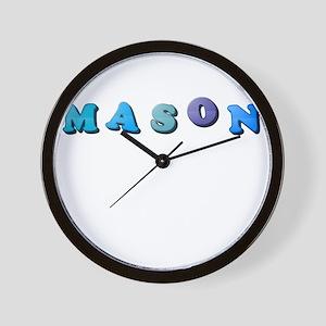 Mason (Colored Letters) Wall Clock