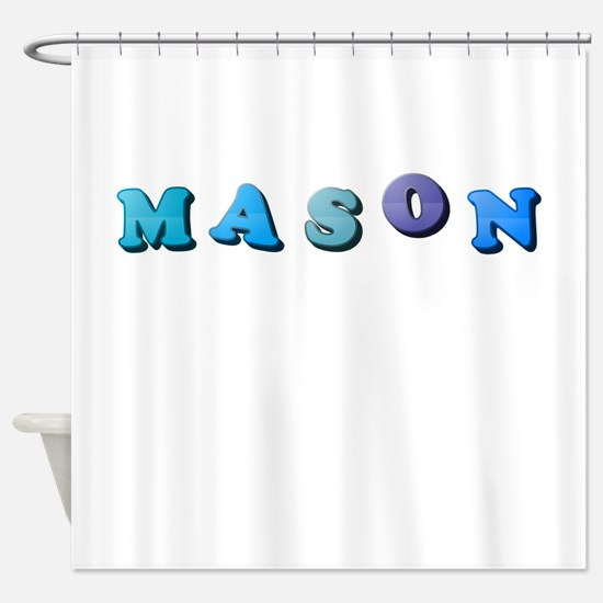 Mason (Colored Letters) Shower Curtain