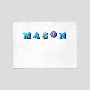 Mason (Colored Letters) 5'x7'Area Rug