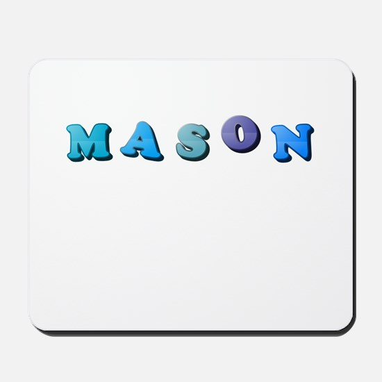Mason (Colored Letters) Mousepad