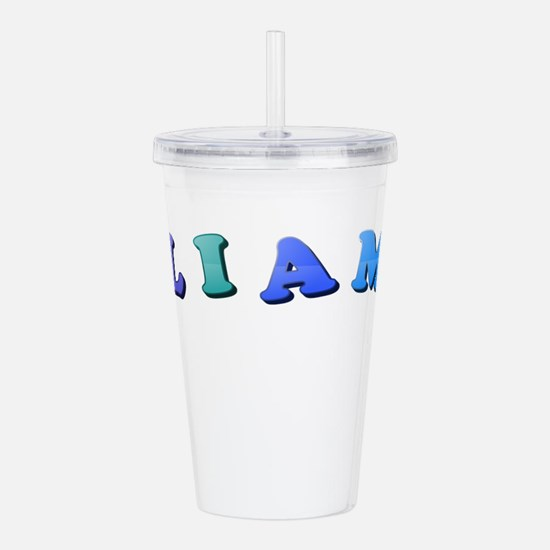 Liam (Colored Letters) Acrylic Double-wall Tumbler