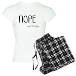 Nope Not Today Funny and Cu Women's Light Pajamas
