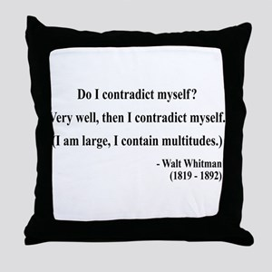 Walter Whitman 7 Throw Pillow