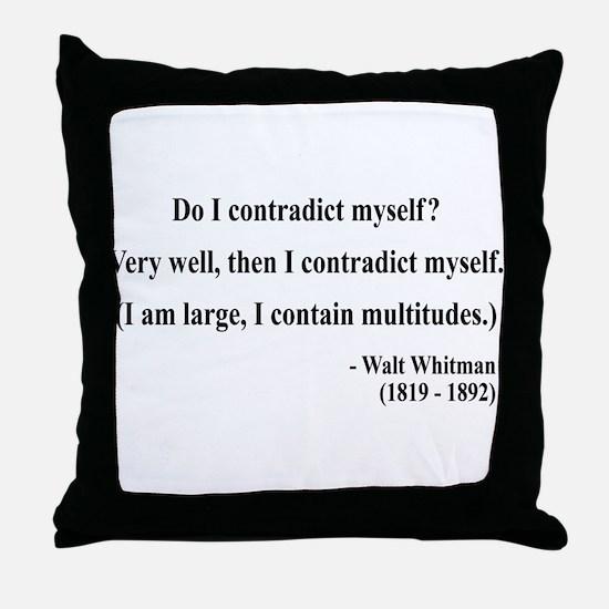 Walter Whitman 7 Throw Pillow