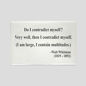 Walter Whitman 7 Rectangle Magnet