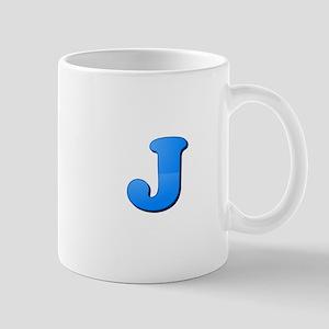 J (Colored Letter) Mugs