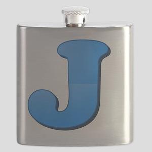 J (Colored Letter) Flask